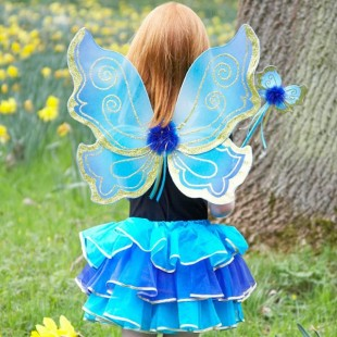 Turquoise Sparkle Fairy Set - Fudge Kids