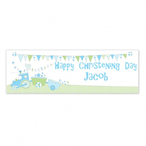 Personalised Bunting Train banner