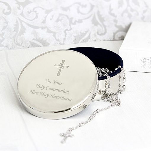 Personalised Rosary Trinket Box