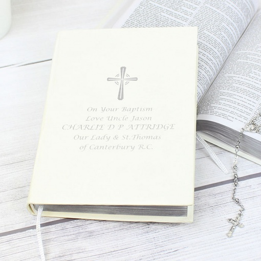 Personalised Companion Holy Bible - Silver