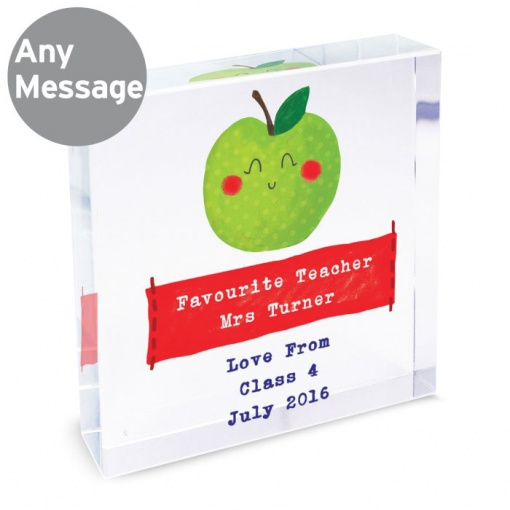Personalised Happy Apple Crystal Token