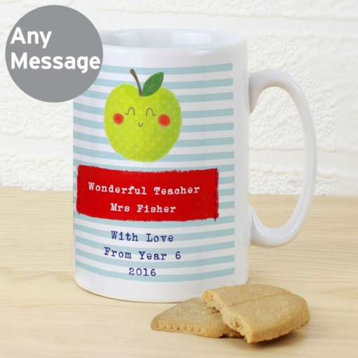 Personalised Happy Apple Mug