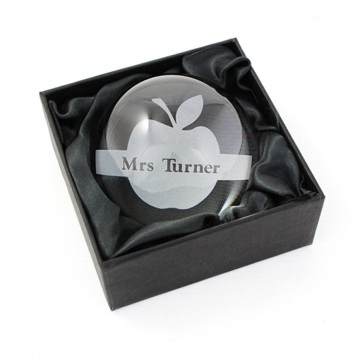 Personalised Apple Dome Paperweight