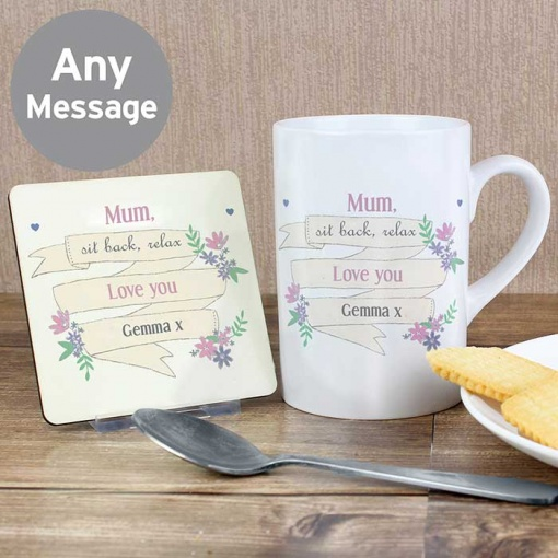 Personalised Bloom Mug Set