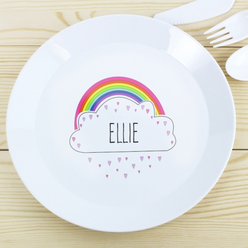 Personalised Unicorn Plastic Plate