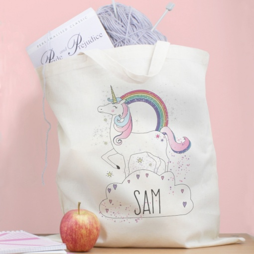Personalised Unicorn Cotton Bag