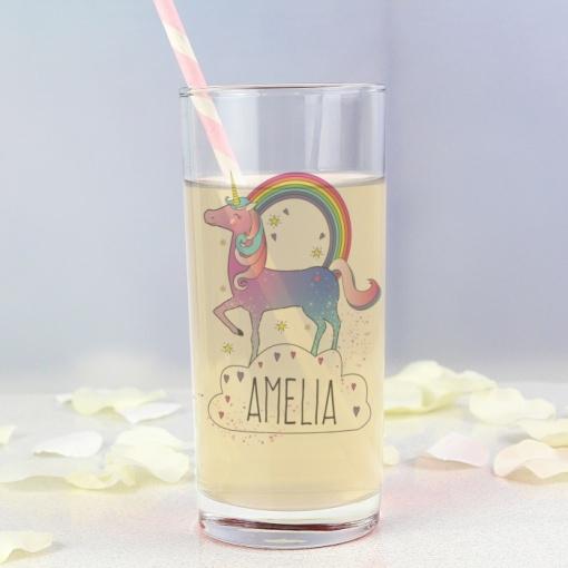 Personalised Unicorn Glass