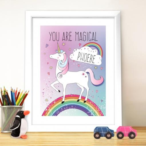 Personalised Unicorn Poster