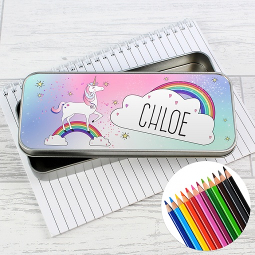 Personalised Unicorn Tin