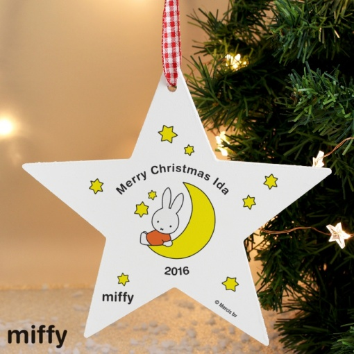 Personalised Miffy Star Decoration